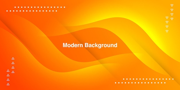 Abstract orange curve with geometric on gradient background