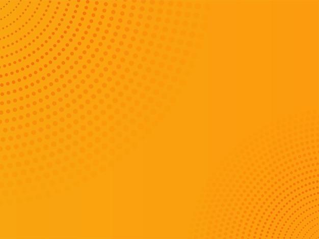 抽象的なオレンジ色のドットパターンの背景。