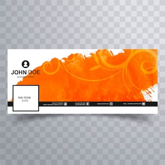 Abstract orange facebook cover template