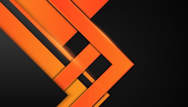 어두운 배경에 추상 오렌지 도형
