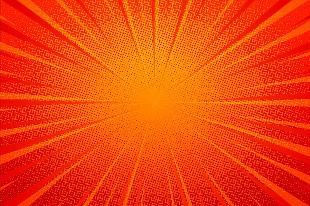 Abstract orange halftone background