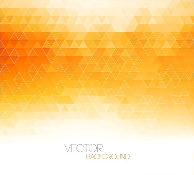 三角形のパターンと抽象的なオレンジ色の光テンプレートの背景