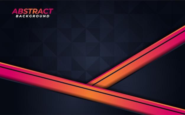 抽象的なオレンジ色の線と形状の背景デザイン
