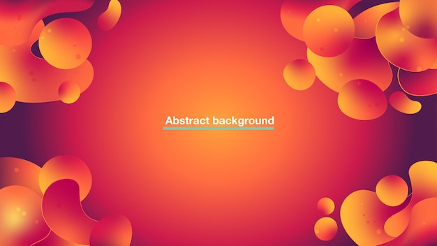 Abstract orange liquid particles background