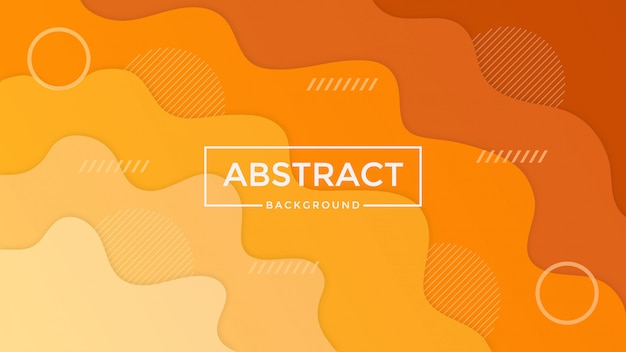 Abstract orange papercut background design