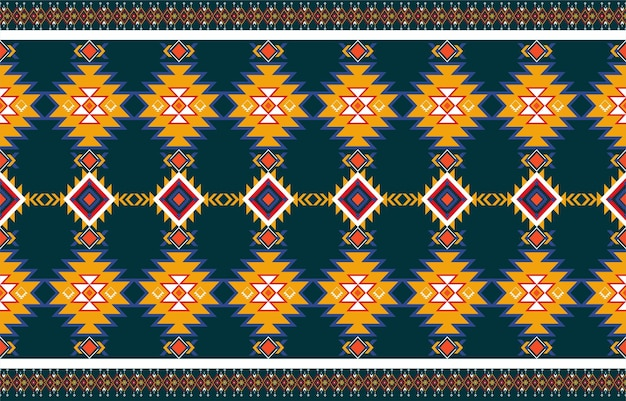Abstract orange and red geometric native pattern seamless .repeating geometric background