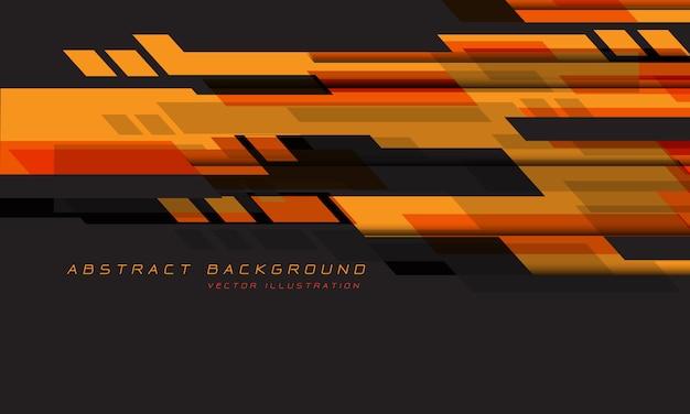 Абстрактный оранжевый красный серый геометрический скорость технологии футуристический дизайн.