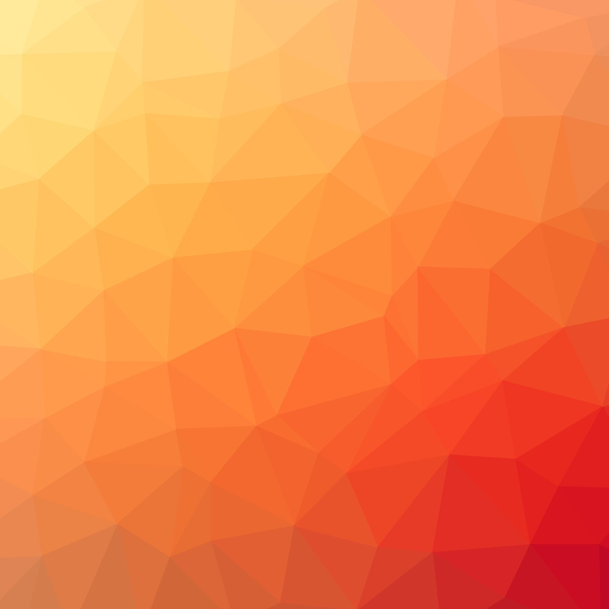 Abstract orange red polygonal background