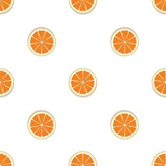 추상 오렌지 원활한 패턴 배경
