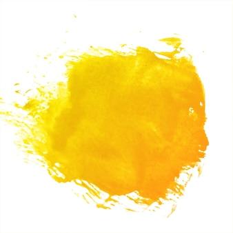 Acquerello astratto della spruzzata arancione