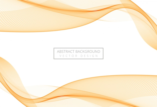 Abstract orange stylish soft wave on white background