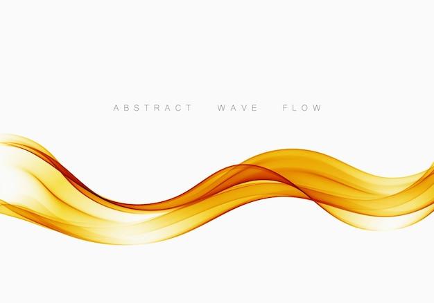 Abstract orange transparent wave background