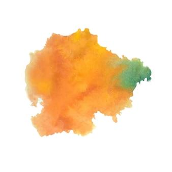抽象的なオレンジ色の水彩スプラッタ
