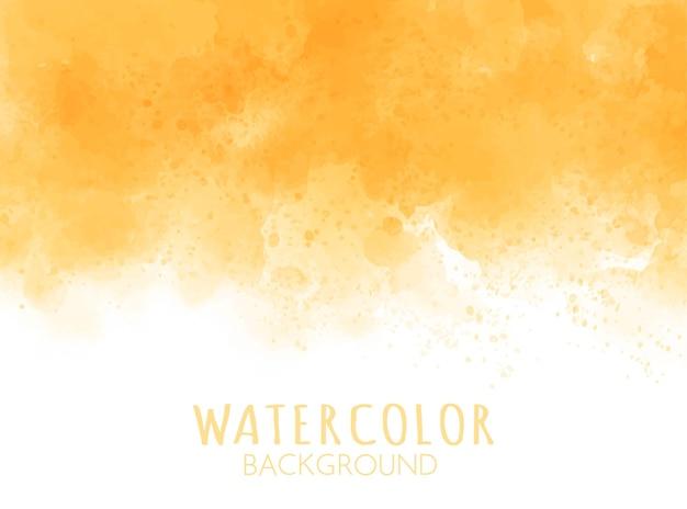 抽象的なオレンジ色の水彩画の背景