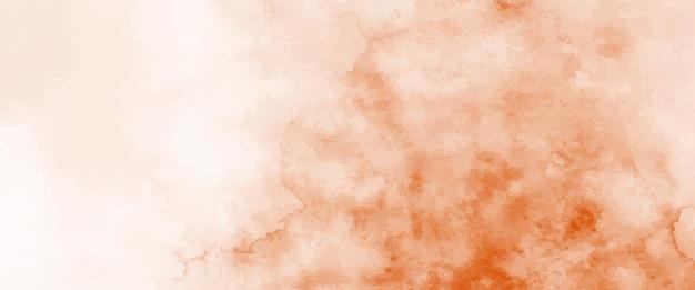 Абстрактная оранжевая акварель, раскрашенная вручную для фона. художественный вектор пятен используется как элемент декоративного оформления заголовка, плаката, открытки, обложки или баннера. кисть включена в файл.