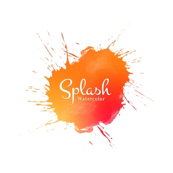 Abstract orange watercolor splash background