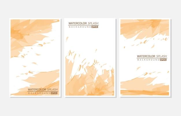 抽象的なオレンジ色の水彩スプラッシュ背景