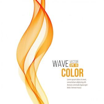Abstract orange wave design element