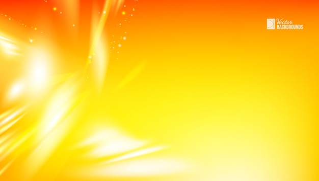 Abstract orange waves background with smooth lines