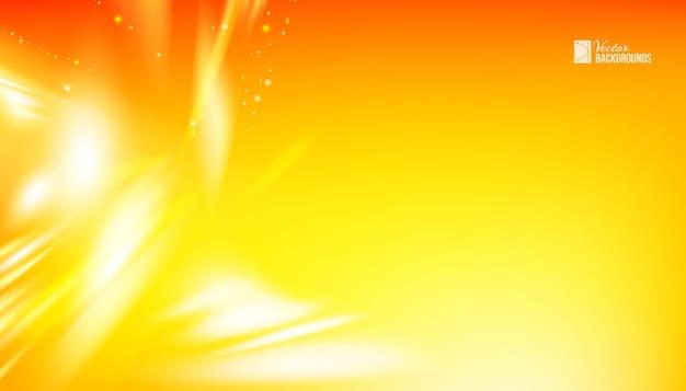 滑らかなラインと抽象的なオレンジ波背景