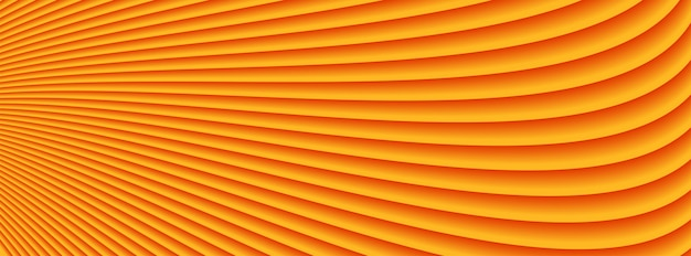 Abstract orange waves lines pattern background