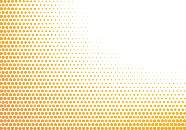 Abstract orange and white dotted background