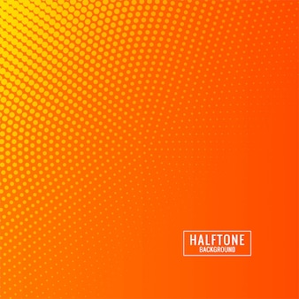 Abstract orange and yallow halftone background