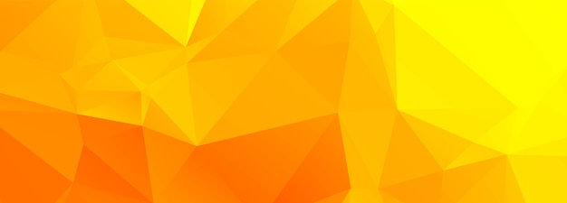 Abstract orange and yellow polygon