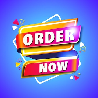 Abstract order now banner