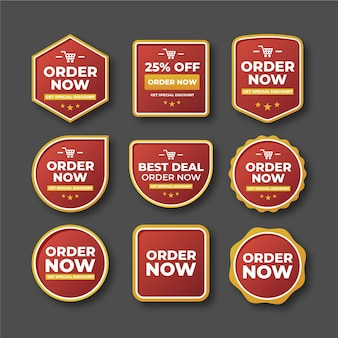 Abstract order now stickers collection