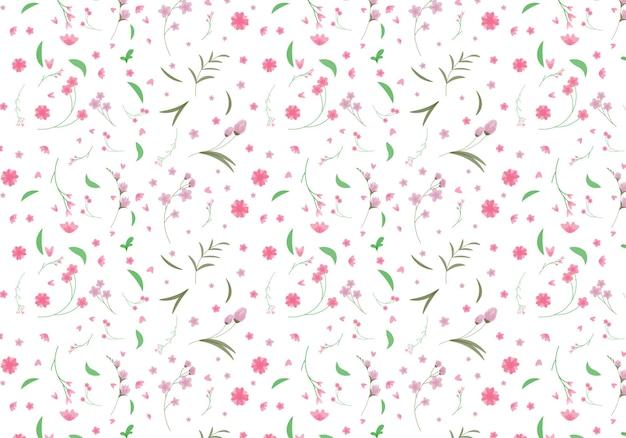 抽象的な有機花柄の背景。ベクトルイラスト。