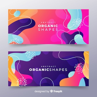 Abstract organic shape banner