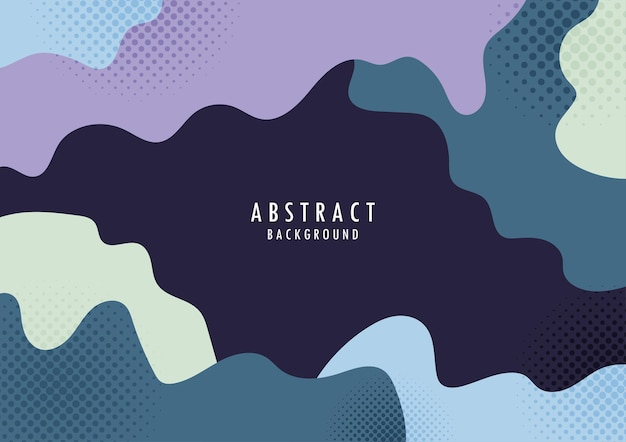 Abstract organic shape with halftone design colorful template