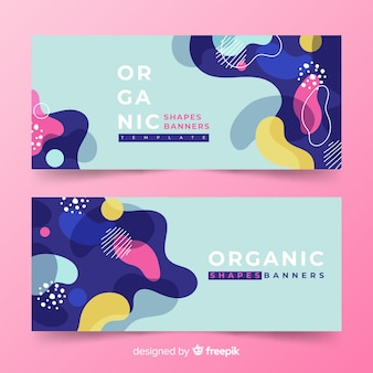Abstract organic shapes banner