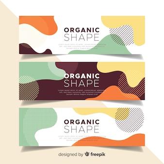 Абстрактные органические формы баннеры