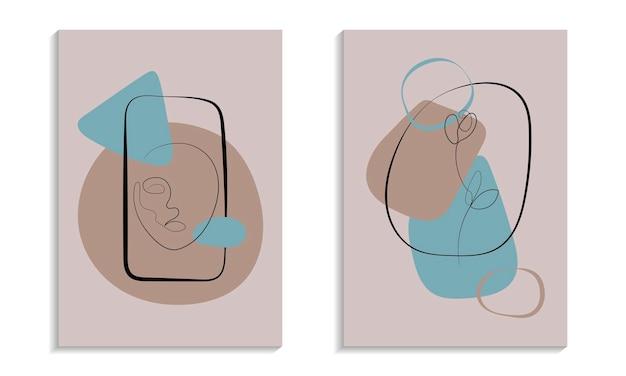 추상 유기 모양 포스터입니다. 인테리어 디자인을 위한 인쇄