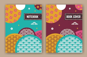 Abstract oriental background design for book cover