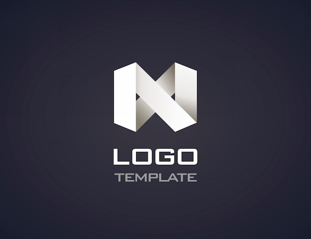 Abstract origami logo isolated