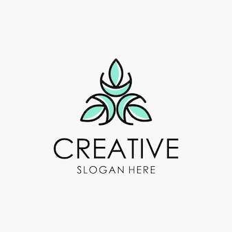 Abstract ornament creative logotype