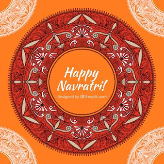 Abstract ornamental background of happy navratri