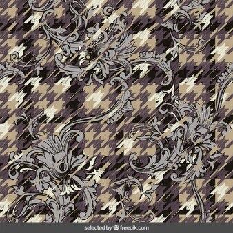 Astratto sfondo ornamentale con pied de poule