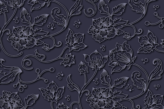Abstract ornamental floral background