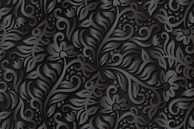 Abstract ornamental flowers background