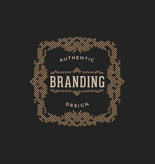 Abstract ornamental logo template
