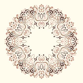 Абстрактная богато украшенная мандала.