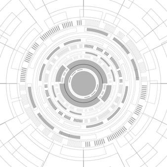 추상 겹침 원 디지털 배경, 스마트 렌즈 기술