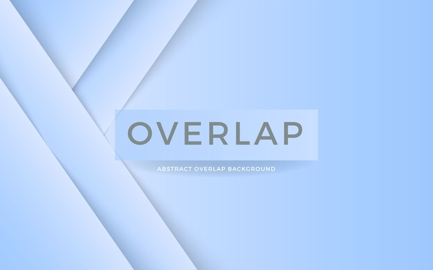 Abstract overlap layer on blue white background