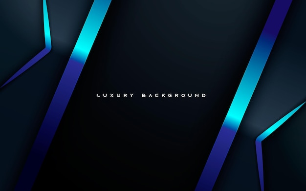 Abstract overlap layers background with blue light line decoration