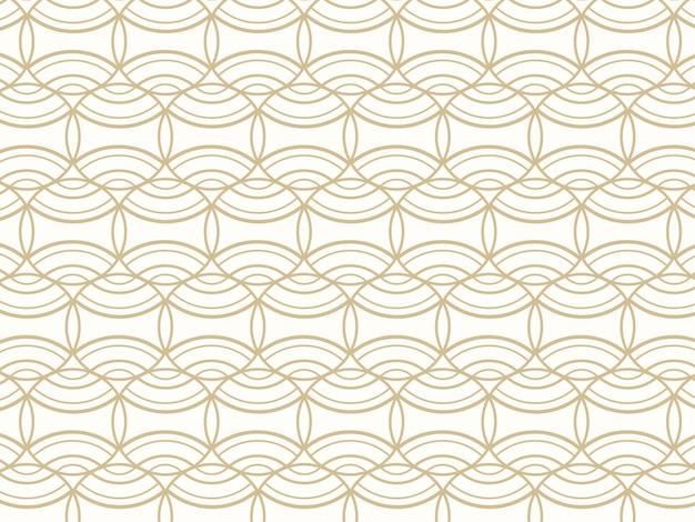 抽象的な重複する神聖な円パターンの背景。