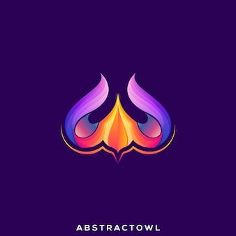 Абстрактный сова премиум логотип вектор
